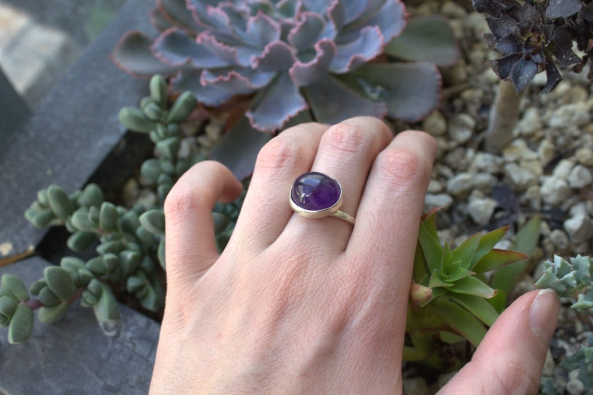 anillo plata amatista oval horizontal 3