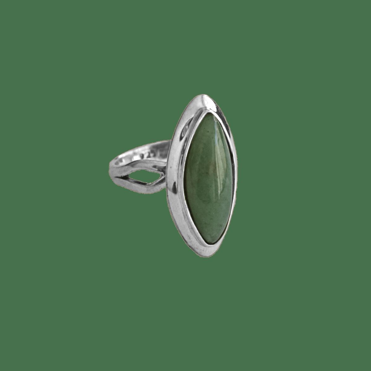anillo plata aventurina menta marquis 1