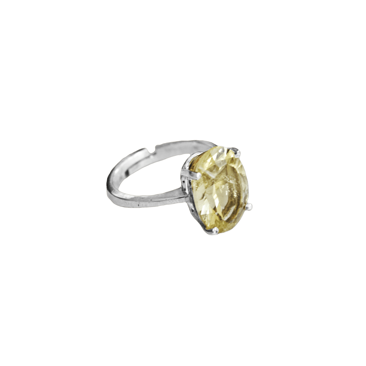 anillo plata citrino oval solitario 1