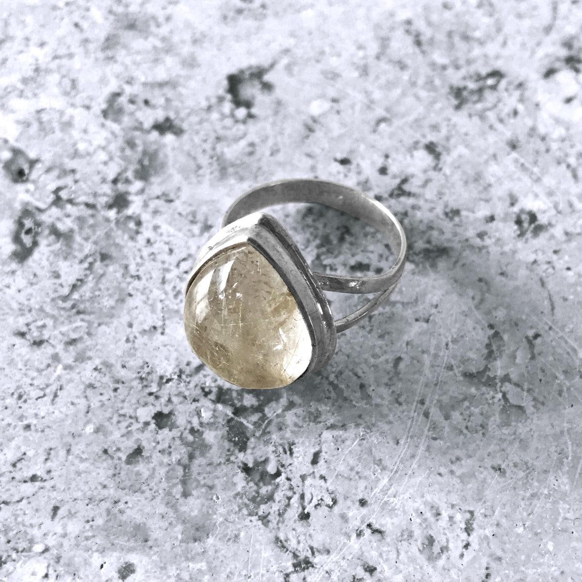 anillo plata cuarzo rutilado gota 2