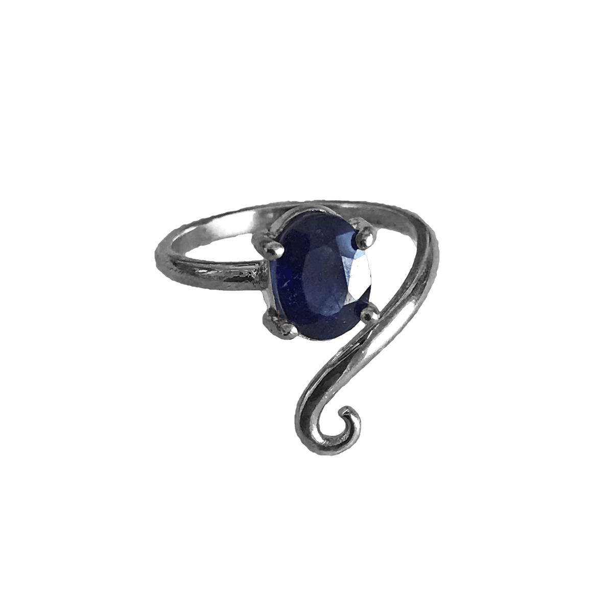 anillo plata especial zafiro 1