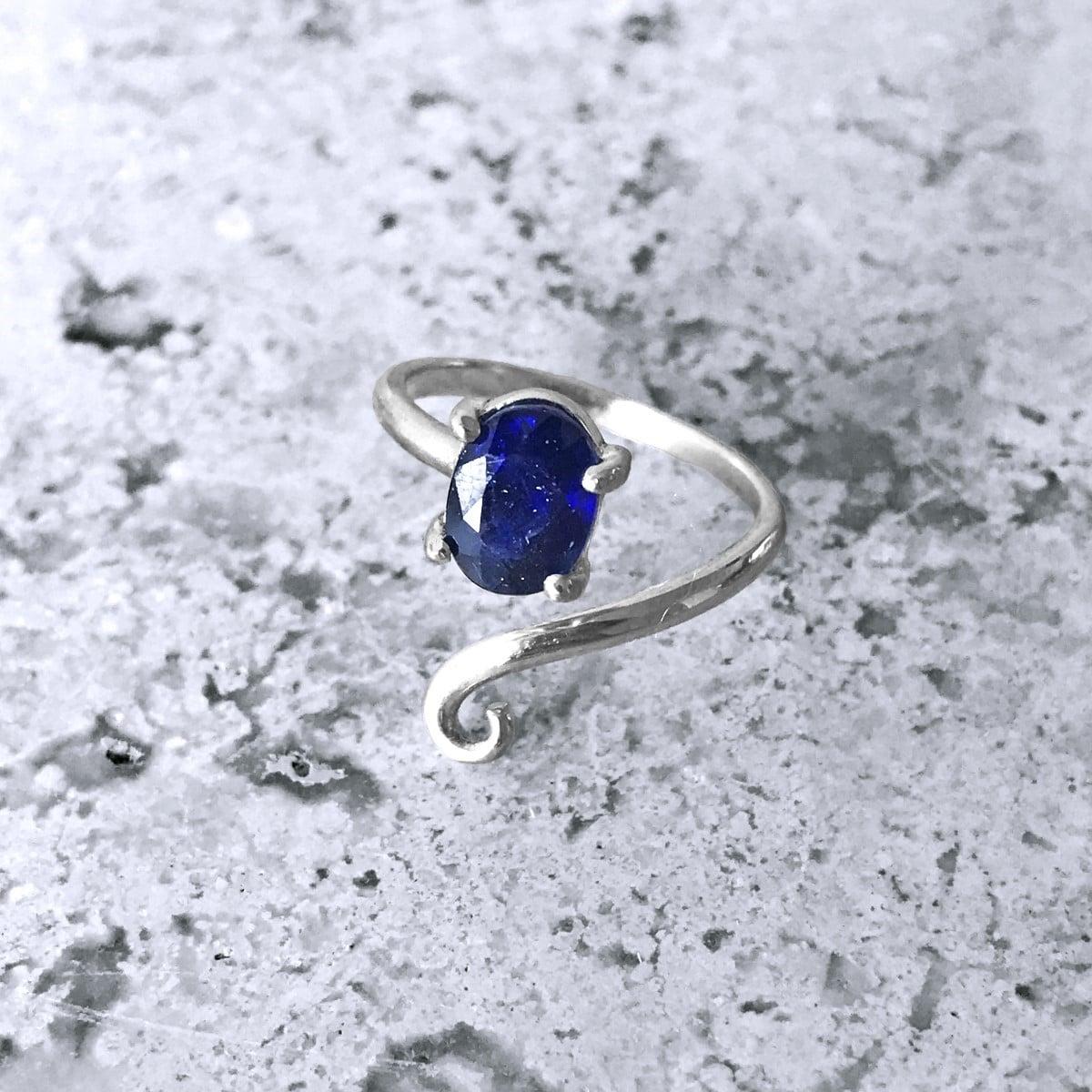 anillo plata especial zafiro 2