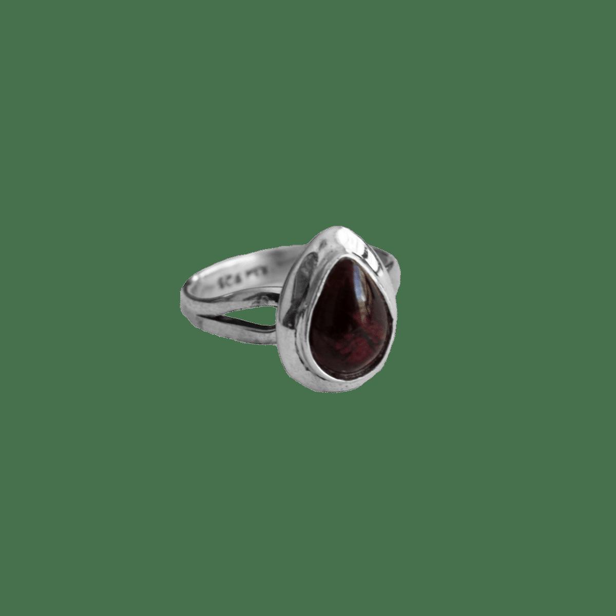 anillo plata granate 1