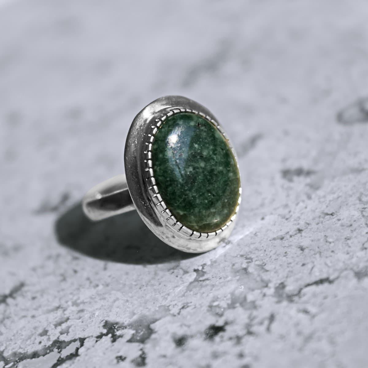 anillo plata jade maya bosque 2
