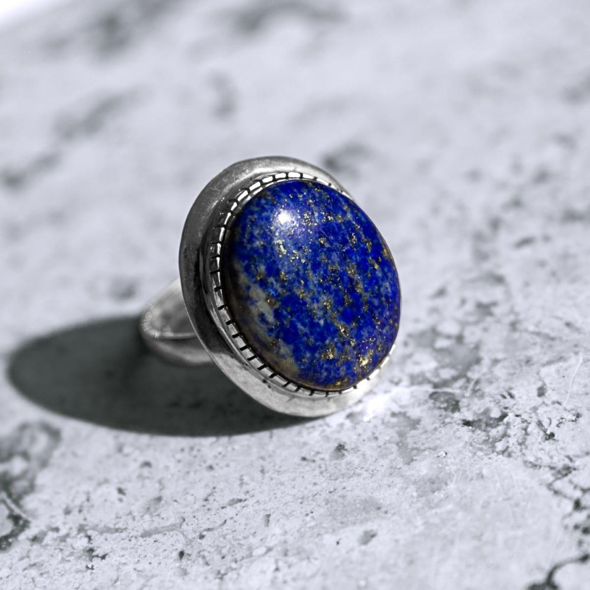 anillo plata lapislazuli oval 2