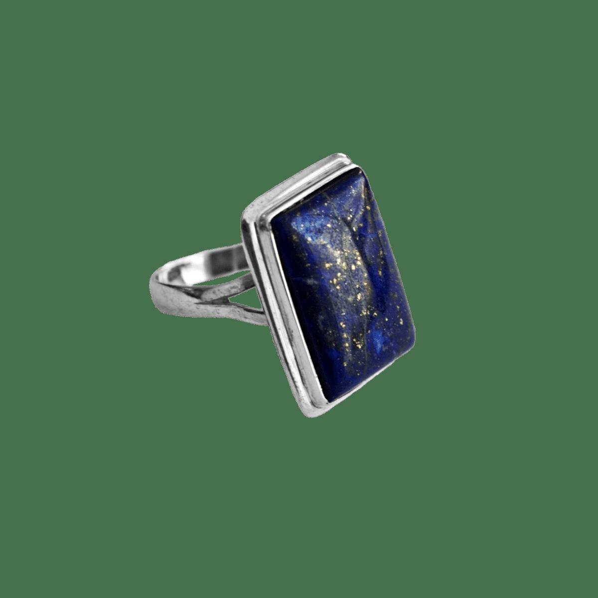 anillo plata lapislazuli rectangulo 1