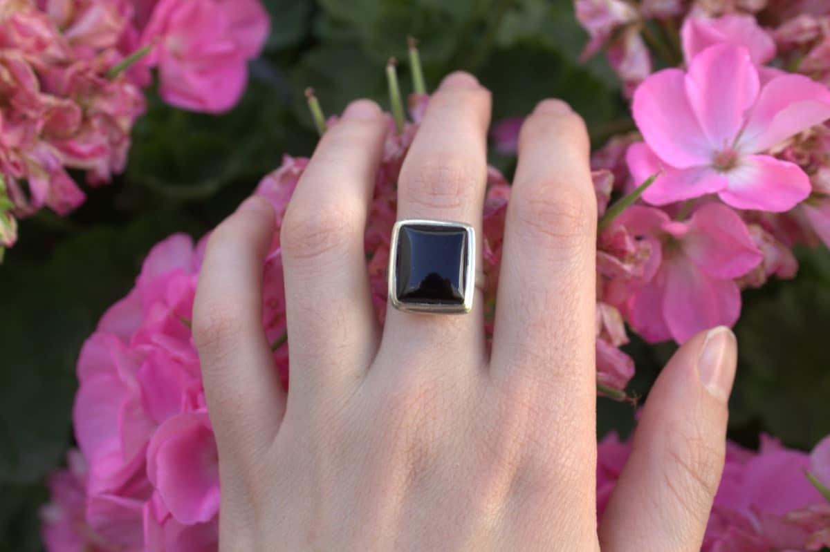 anillo plata onix negro rectangulo 3