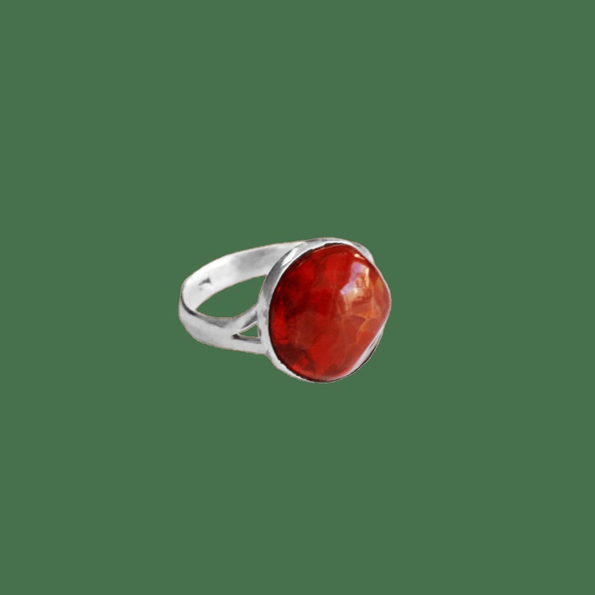 anillo plata opalo cereza 1