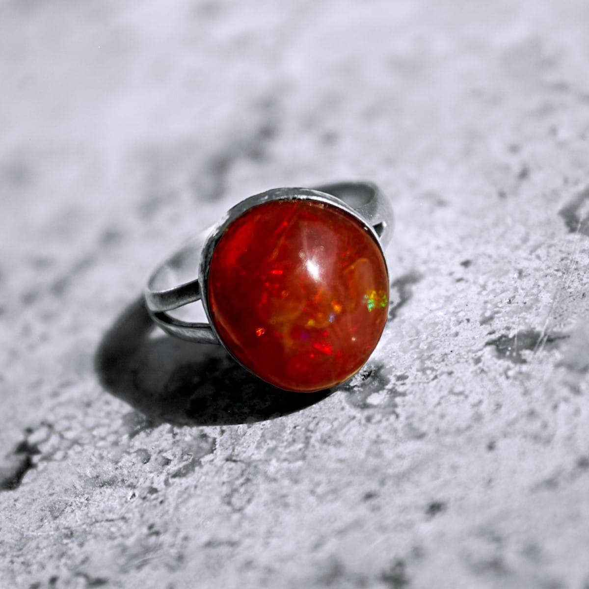 anillo plata opalo cereza 2
