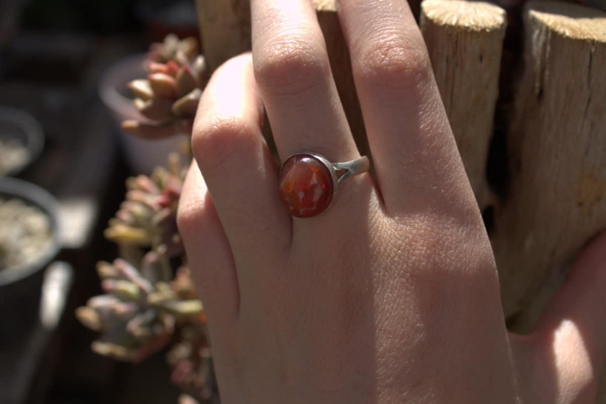 anillo plata opalo cereza 3