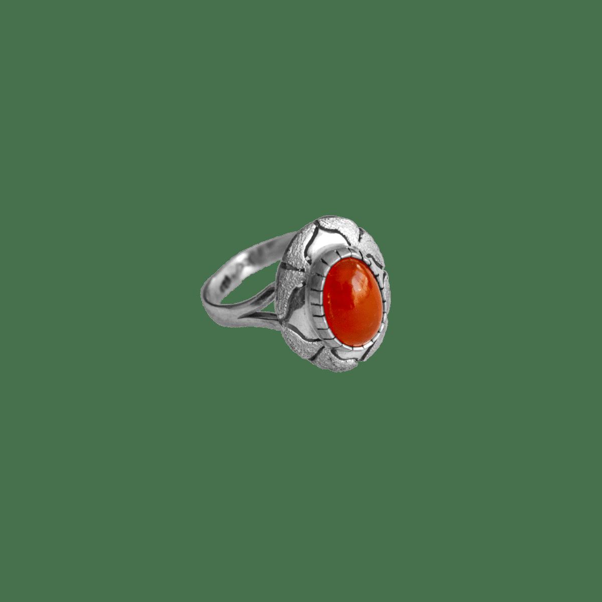 anillo plata opalo naranja intenso 1