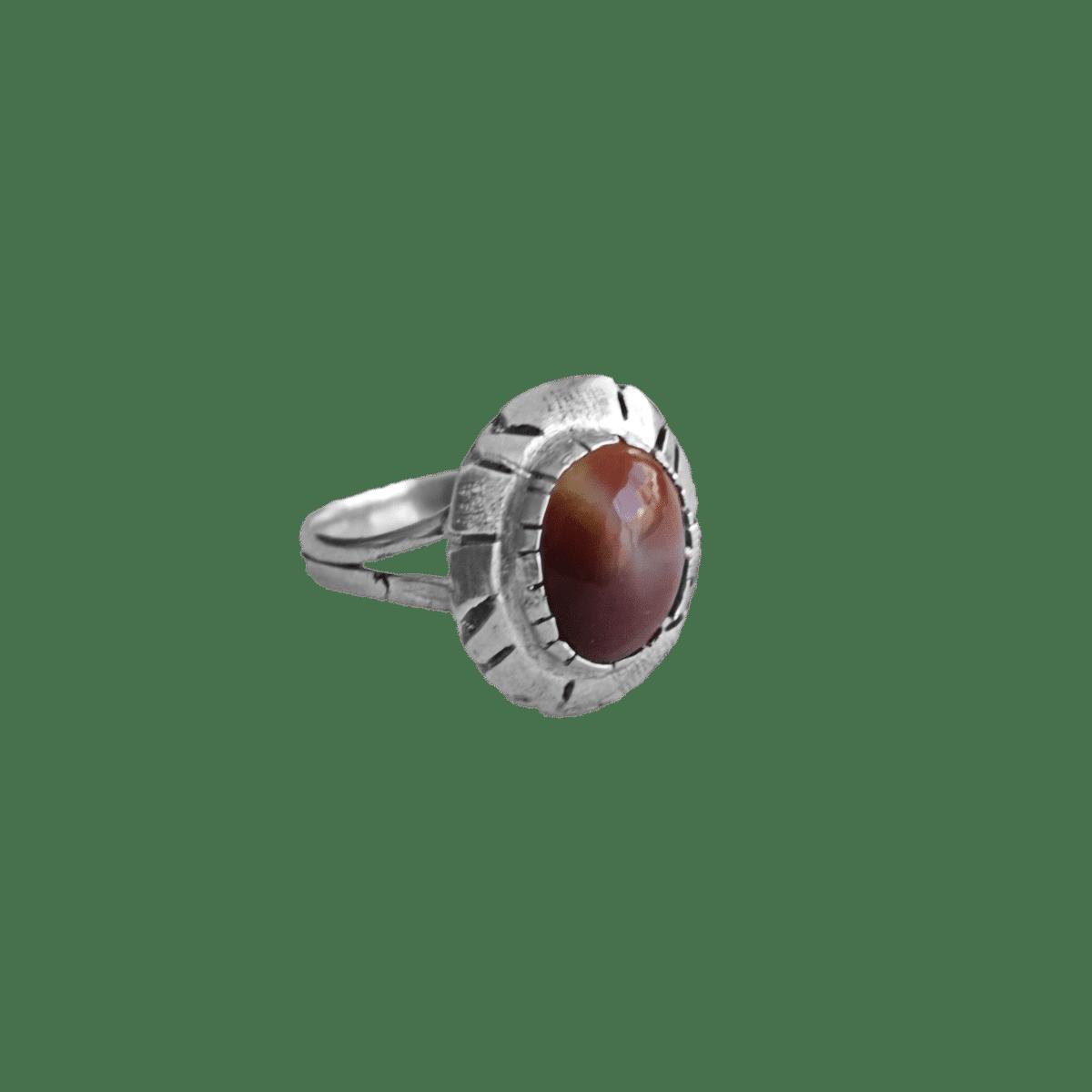 anillo plata opalo rojo oscuro rubor 1