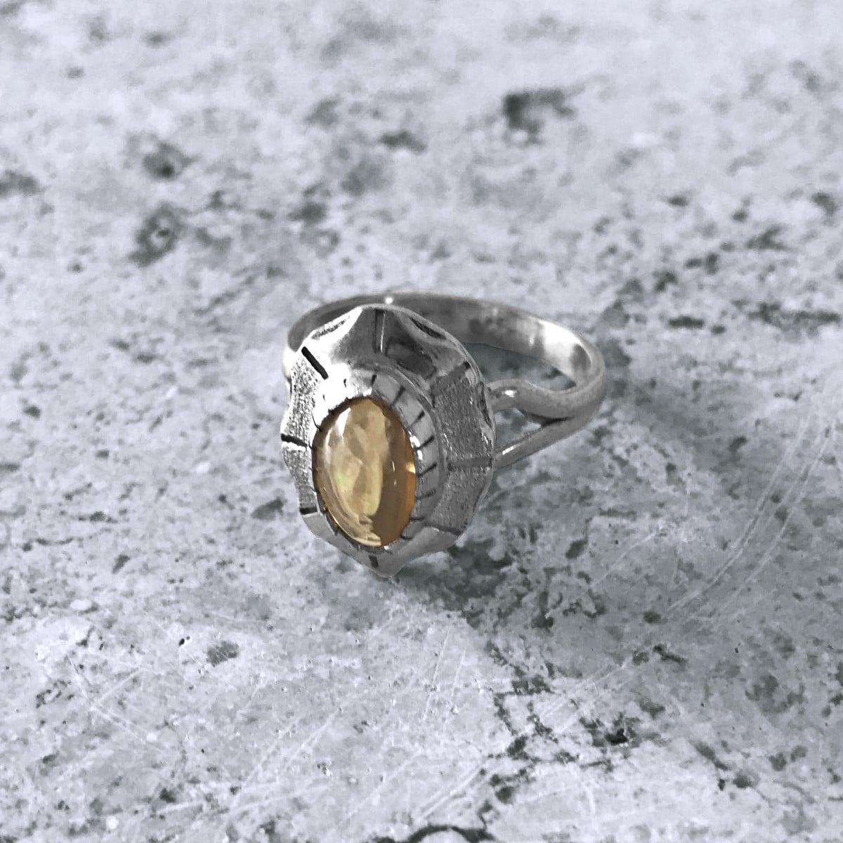 anillo plata opalo translucido 2