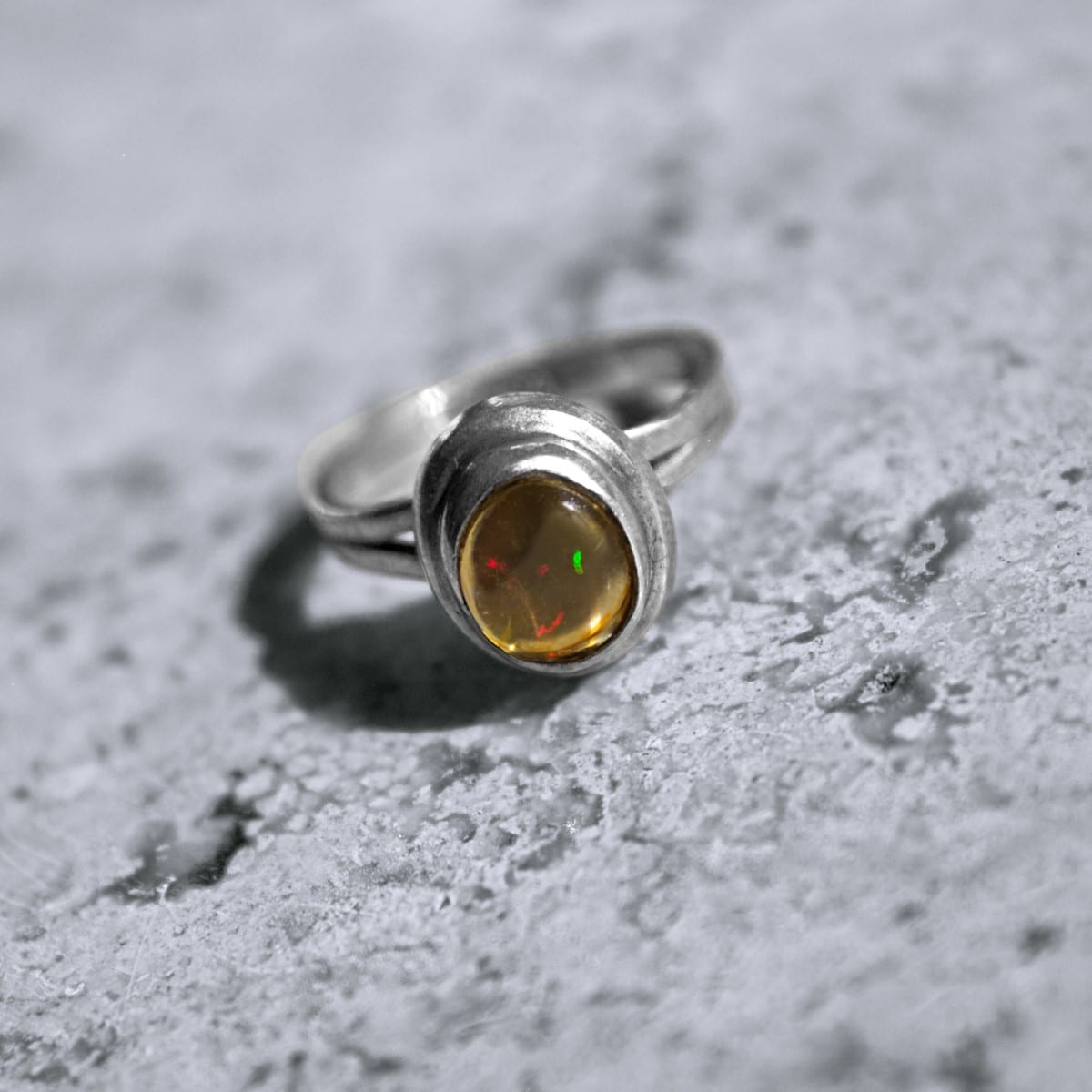 anillo plata opalo transparente 2