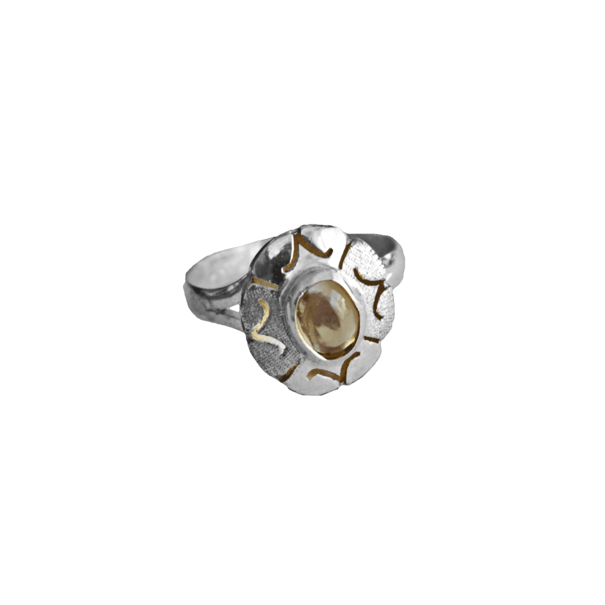 anillo plata opalo transparente flor 1