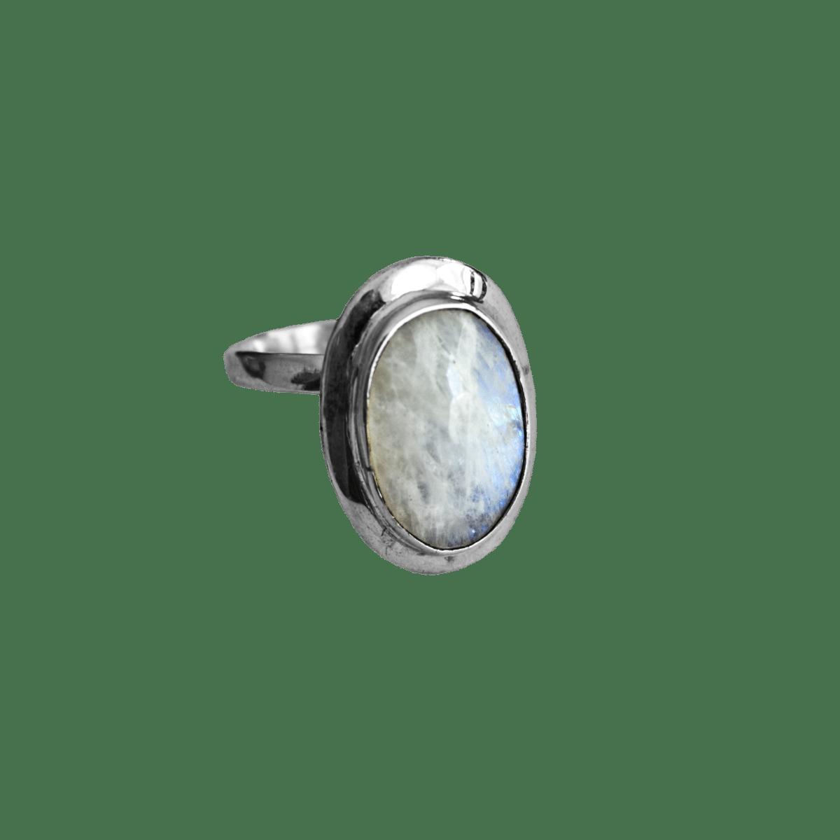 anillo plata piedra luna ovalo 1