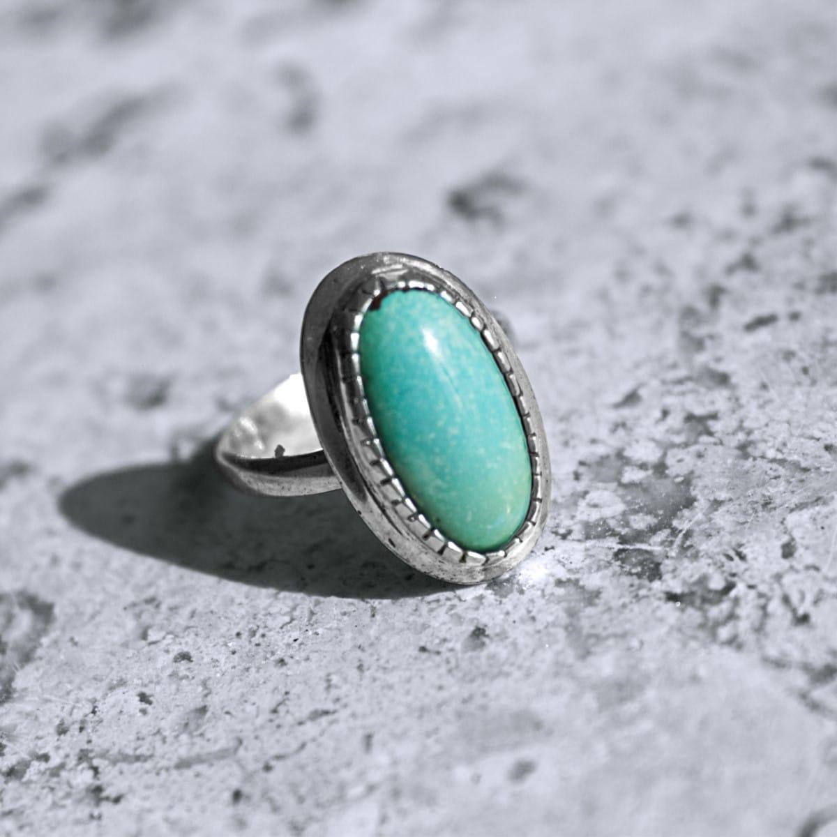 anillo plata turquesa largo 2