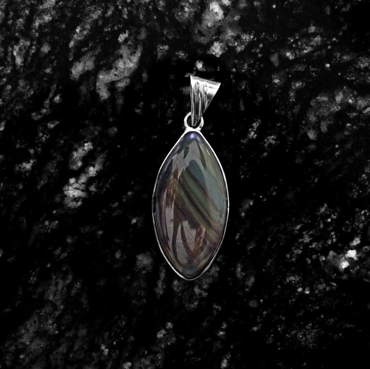 dije plata obsidiana arcoiris 3