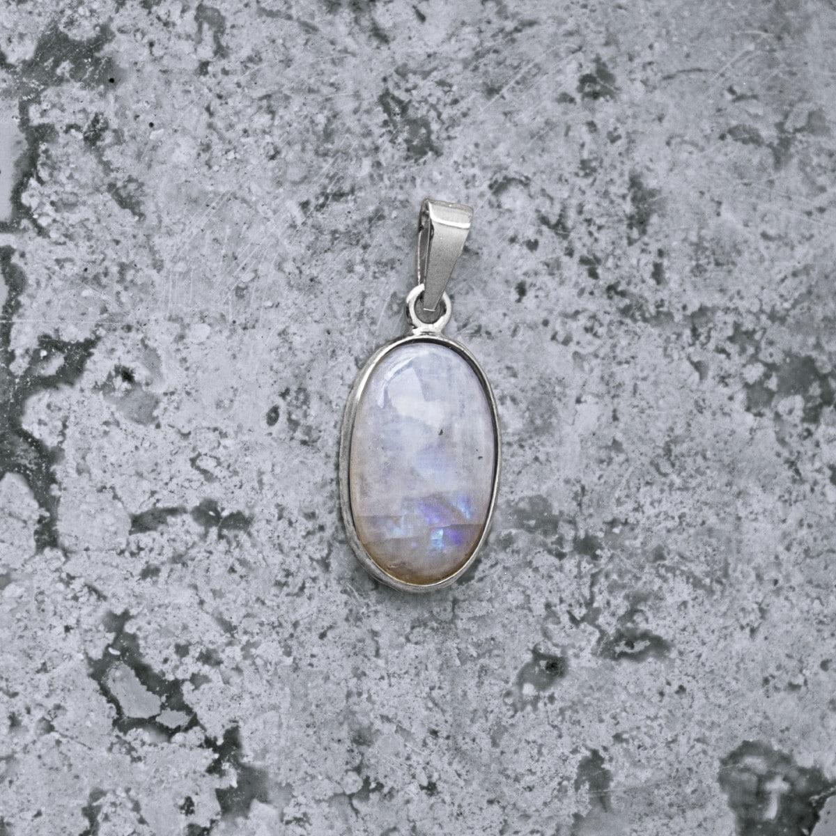 dije plata piedra luna ovalo 2