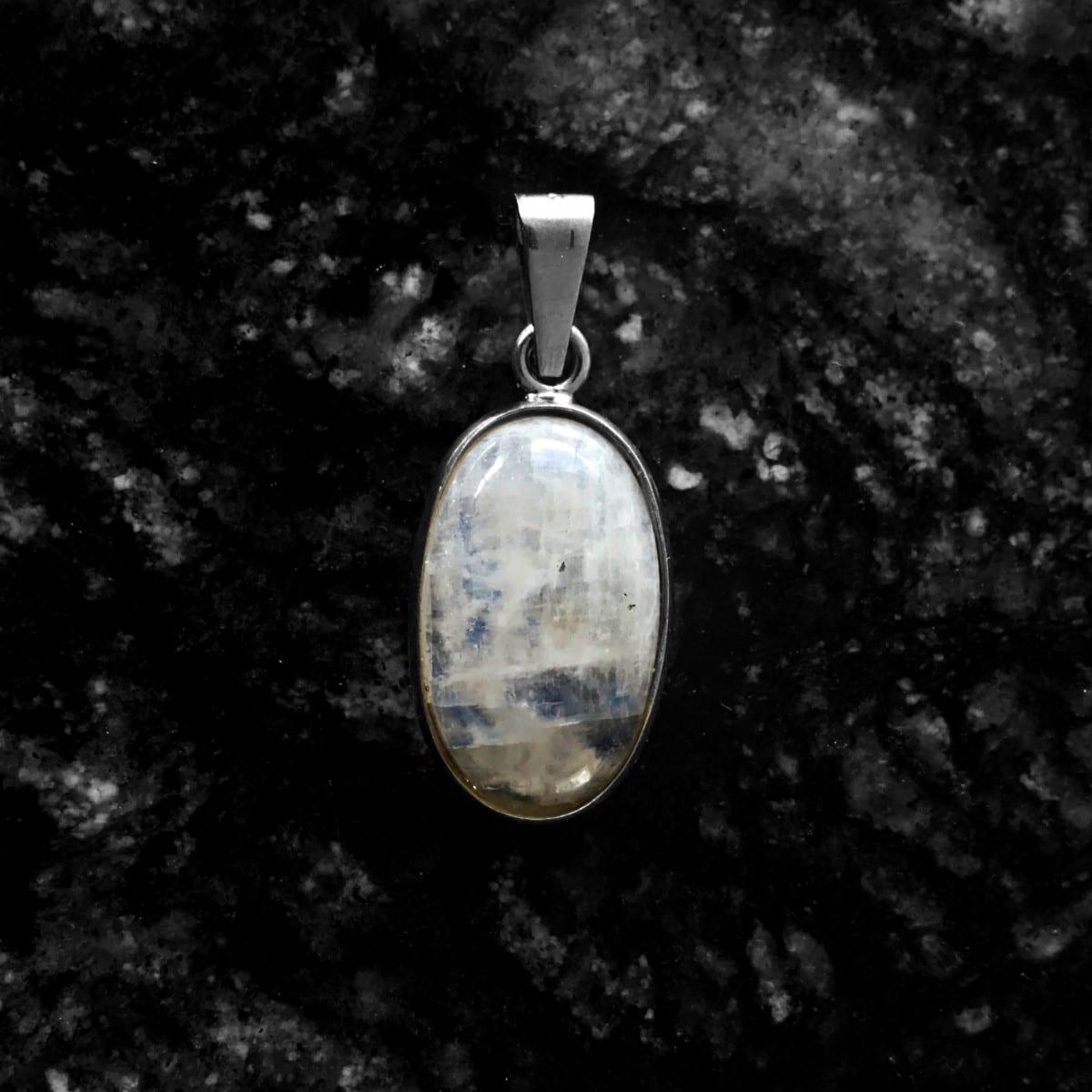dije plata piedra luna ovalo 3