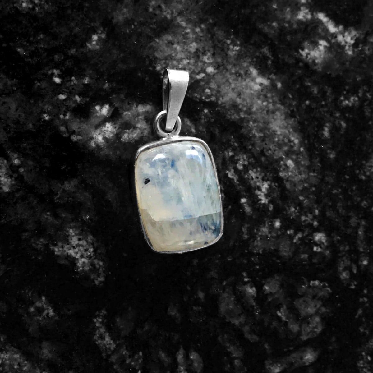 dije plata piedra luna rectangulo 3